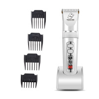Pet Cat Dog Clipper Electrical Grooming Trimmer Rechargeable Haircut Machine for large Dog Baorun P9 NEW Professional LCD Screen
