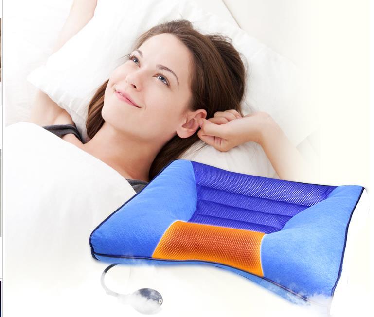 Cervical pillow repair decongestion neck pillow pillow The neck pillow traction Fang Zhen heating Effective as a sleep aid neck alexika neck pillow air burgundy red 9517 0008