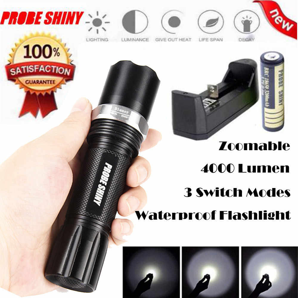 New 2018 Fashion X800 4000 Lumen Zoomable XML Q5 LED Flashlight Torch Zoom Lamp Light 3 Mod Drop Shipping