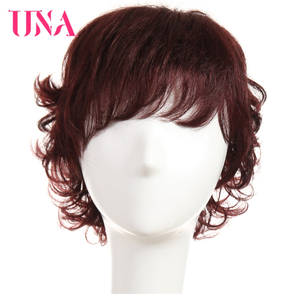 UNA Non-Remy Malaysian Human Hair Funmi Curly Wigs For Women 150% Density #1 #1B #2 #4 #27 #30 #33 #99J #BURG #350 #2/33