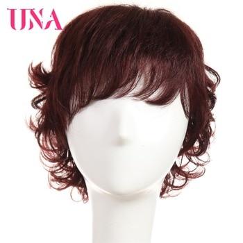 UNA Non-Remy Malaysian Human Hair Funmi Curly Wigs For Women 150% Density #1 #1B #2 #4 #27 #30 #33 #99J #BURG #350 #2/33 una non remy brazilian human hair wigs for women fantasy wave 150% density color 2 33 1 1b 2 4 27 30 33 99j bug 350