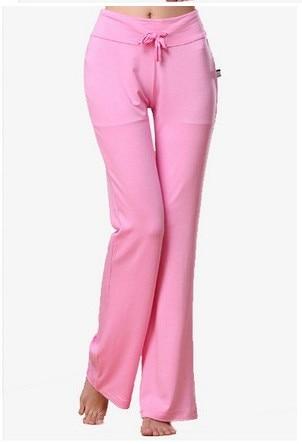16 sortes de couleur Multicolore Pantalon Taille Haute Stretch Femmes Harem De Danse Club à Jambe Large Lâche Long Pantalon Défaites