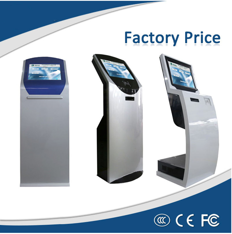 17 Inch Automatic Number Waiting Queue Management System Kiosk