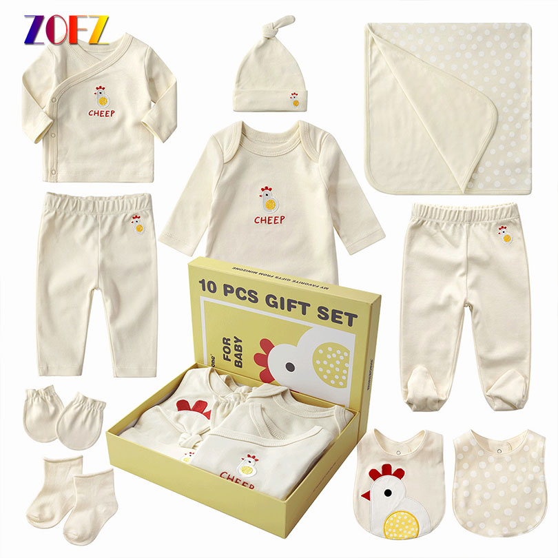 ZOFZ 10pcs/lot newborn baby girls clothes set 2018 new infant spring clothing for babies boys long sleeve cotton baby suit newborn baby clothes hot baby brand suit gift fashion outfit long sleeve 2017 new autumn infant boys girls clothes sets suit