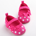 Summer Style Pink Lace Bow Infant Baby Girl Shoes Polka Dots Lace Bowknot Baby Shoes First Walker Infantil Menina 0-18 Months