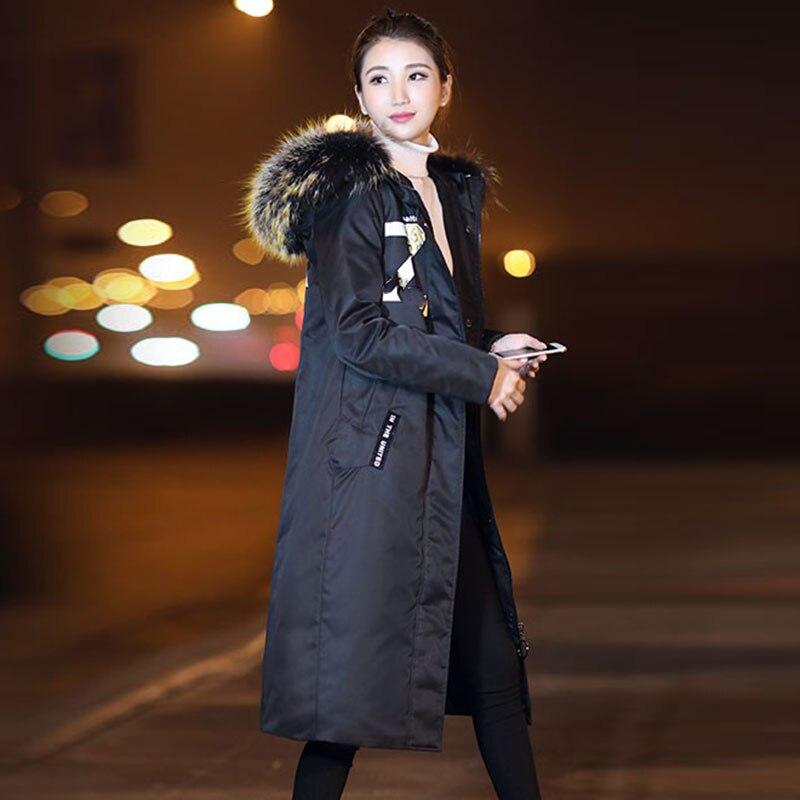 Femme 2018 Nouvelles Chaud Mode camel Capuche Canard Parka Blanc Épais Manteau Duvet D'hiver Femmes À De Longue Noir Pardessus Veste Aaqw0agF