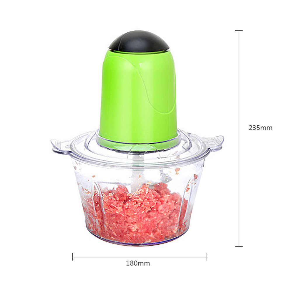 2l chopper cozinha elétrica moedor de carne triturador alimentos chopper aço inoxidável processador doméstico elétrico cozinha ferramenta cocina