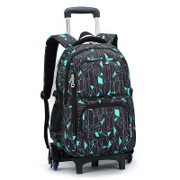Hot Sales Removable Children School Bags With 3 Wheels Child Climb Stair Trolley Backpack Kids Wheeled