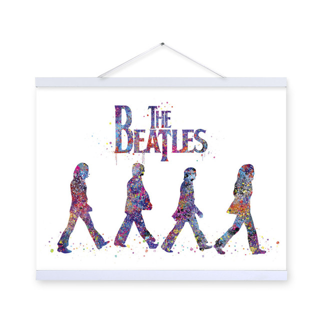 Watercolor Beatles Living Bed Room Modern Wall Art Pop Rock Music Celebrity Poster Prints Canvas Painting Gift