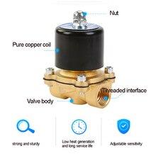 Электромагнитный клапан DC 12V 1/4 ''3/8'' 3/4 ''NPT N/C латунь нормально закрытый электрический клапан для воды, масла, воздуха, дизельного топлива