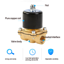Solenoid Valve DC 12V 1/4'' 3/8'' 3/4'' NPT N/C Brass Normally Closed Electric Valve for Water Oil Air Diesel-Gas Fuels цена и фото