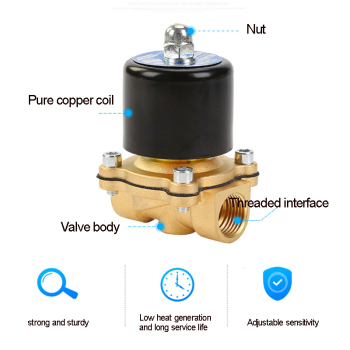 Solenoid Valve DC 12V 1/4'' 3/8'' 3/4'' NPT N/C Brass Normally Closed Electric Valve for Water Oil Air Diesel-Gas Fuels 1pc dc12v g3 4 normal closed brass electric magnetic solenoid valve normally closed brass for water control