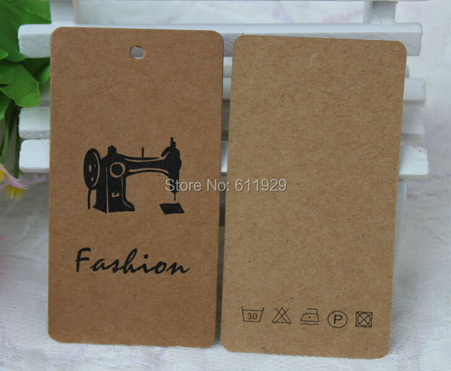 Aliexpress.com : Buy customized clothing 350 gsm kraft paper hang ...