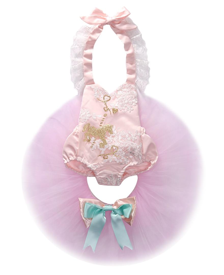 Νέα μόδα καλοκαίρι νεογέννητα κορίτσια μωρών Lace Halter Ρούπερ Tutu Φόρεμα 2pcs γάμο γενέθλια κόμμα Πακέτο παιδικά ρούχα σύνολο 0-24M