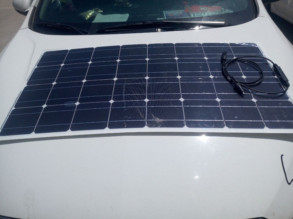 3pcs Semi Flexible Mono Solar Panel Battery Set System RV 100W 18V Boat Cabin