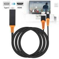 Тип-c к hdmi с экраном телефон подключение ТВ дисплей тип-c к hdmi 4K с блоком питания для samsung Galaxy S10 S9 Note 9 8