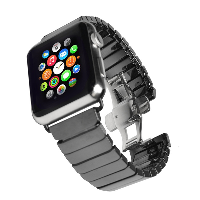 Applicable To For Apple Watch Strap For Apple Watch38/42MM Ceramic Metal Chain Watch Strap For Iwatch Wristband