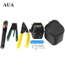 Envío libre Herramienta 5 en 1 FTTH Fibra Óptica de Empalme de fibra kits de herramienta de Fibra óptica stripper SKL-6C cuchilla de fibra Localizador Visual de Fallos