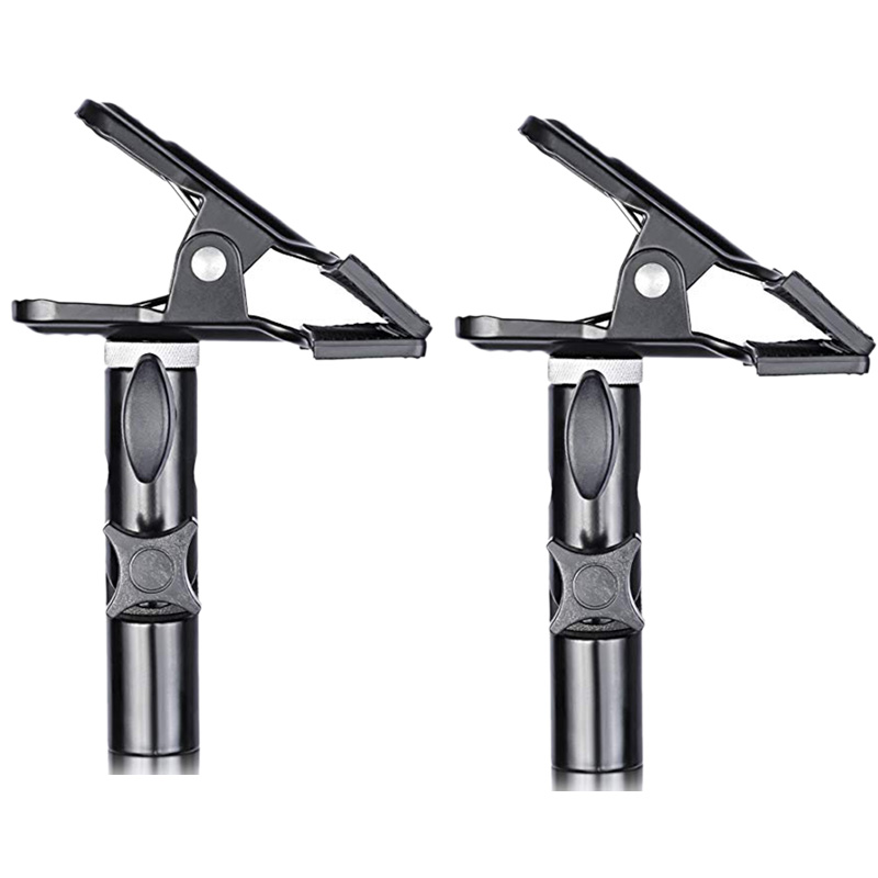 2 Pcs Photo Studio Heavy Duty Metal Clamp Holder With 5/8 inch Light Stand Attachment For Reflector2 Pcs Photo Studio Heavy Duty Metal Clamp Holder With 5/8 inch Light Stand Attachment For Reflector