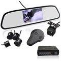 3in1 Видео Датчик Парковки Помощь Монитор 4.3 дюймов TFT LCD Дисплей + Сигнализация + Камера Видео Зеркало Заднего Вида Обратный Радиолокатор система