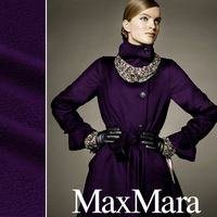 Double faced Water ripple Cashmere Wool fabric Coat fabrics 520grams per meter Purple