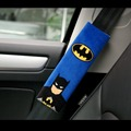1 Pair Cartoon Car Sefety Seat Belt Cover Batman Superman Auto Seatbelt Shoulder Protection Padding Winter Plush Car Seatbelts
