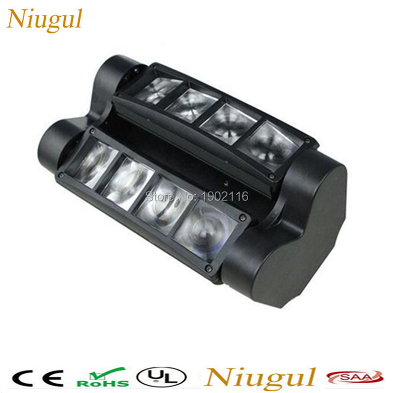 Niugul High quality DMX512 stage effect lights 8x10W Mini Led Spider light rgbw led Beam ktv party dj disco lighting Scan lights niugul 30w dmx mini gobo projector spot led moving head high quality 30w party disco ktv stage light factory sale fast shipping