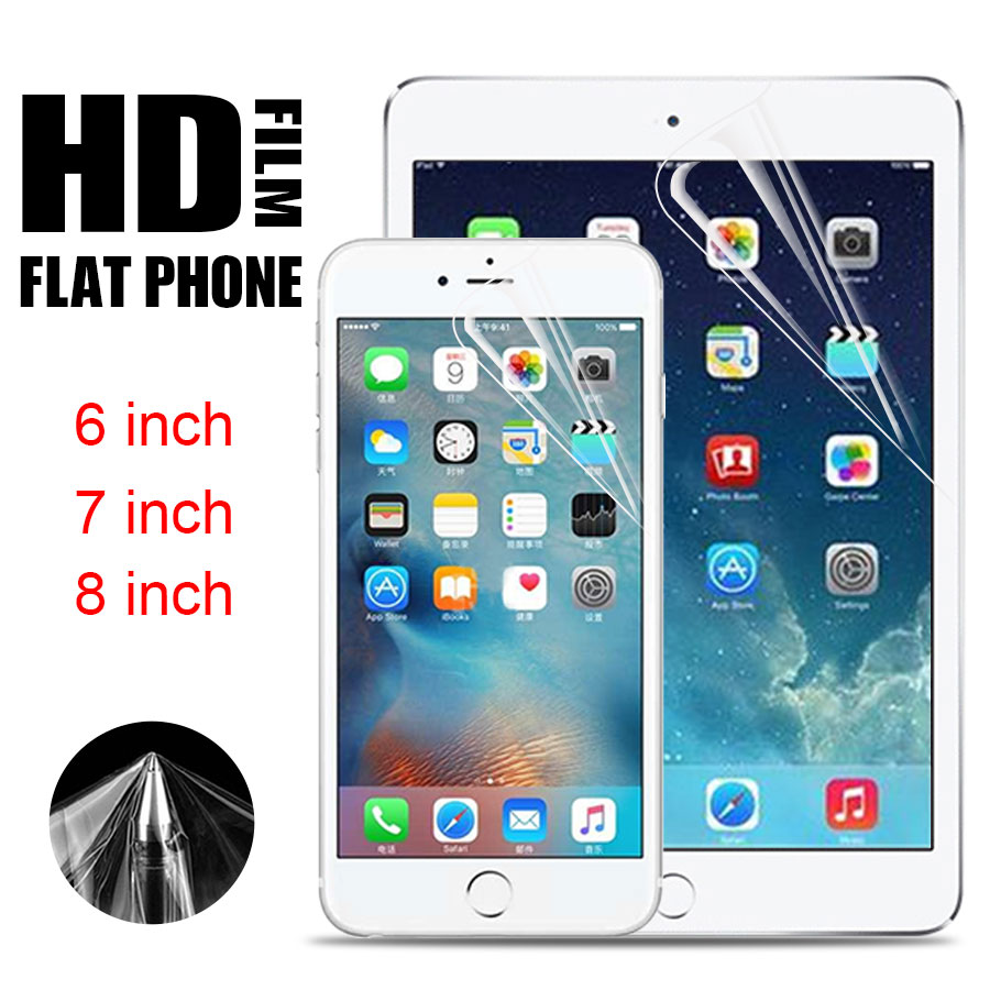 Protective Film On The Tablet 6 7 8 inch Universal Clear Screen Protector For Flat Mobile phone IPAD GPS MP4 MID(10pcs/lot)