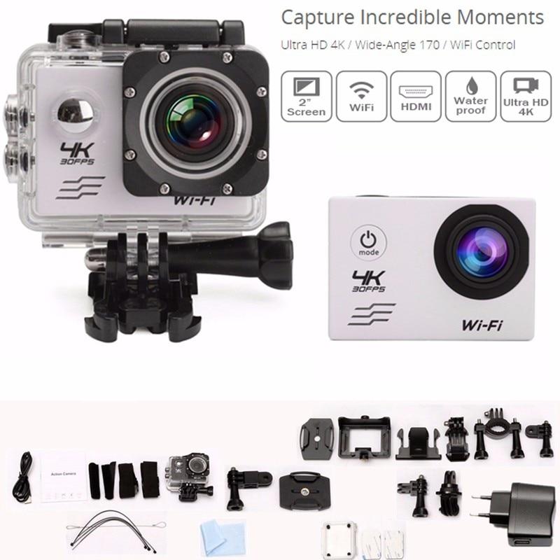 все цены на High Quality SJ8000 4K Ultra HD WiFi 2.0'' LCD Sports Action Cam 30 Waterproof Mini DV Camera FPV Mini Camera онлайн