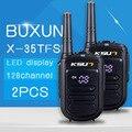 2 PCS Walkie Talkie 8 W UHF Handheld Pofung X-35TFSI BUXUN 8 W 400-470 MHz 128CH TWO way Radio CB portátil