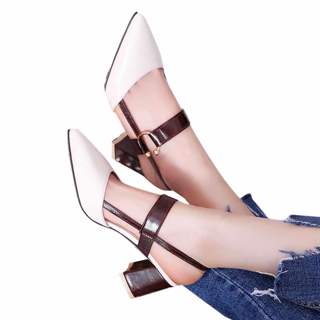 Jaycosin kleidung Schuhe Damen Flacher Mund Spitz Pumps Weibliche Party High Heels Arbeit Schuhe
