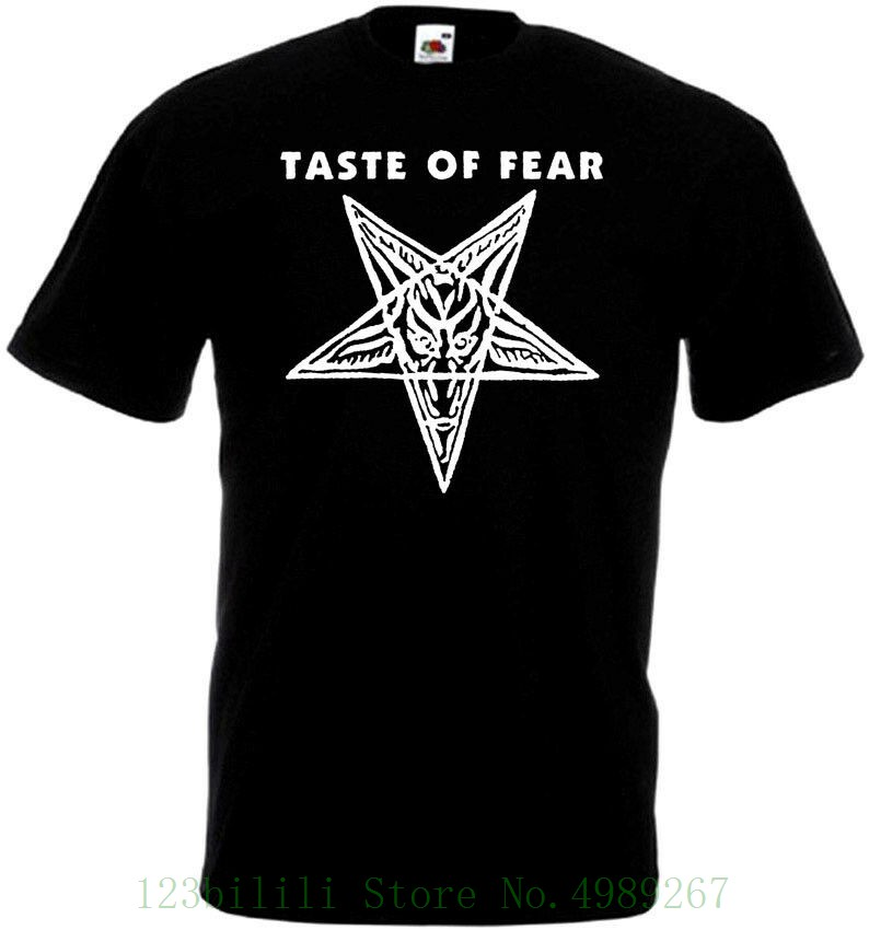 Taste Of Fear <font><b>V8</b></font> <font><b>T</b></font> <font><b>Shirt</b></font> Black Grindcore Punk Hardcore Thrash Sizes S - 5xl Short Sleeve Men Tshirt Tops Summer image