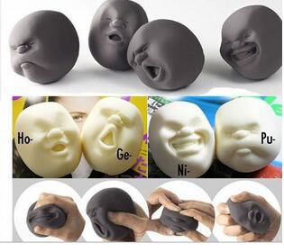 Hot Sale Human Face Emotion Vent Ball Toy Resin Relax Doll Adult Stress Relieve Novelty Toy