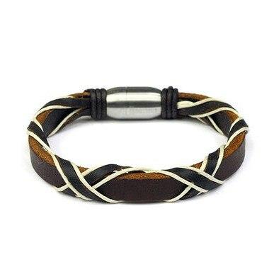 9742159fa28da8 SUPIN Mode Cool Parfait En Acier Inoxydable Perles Chaîne de Main Bijoux  Cadeau Bracelets et Bracelet Tissé En Cuir Charme Bracelet Pour Hommes
