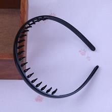Unisex Black Wavy Hair Head Hoop Band