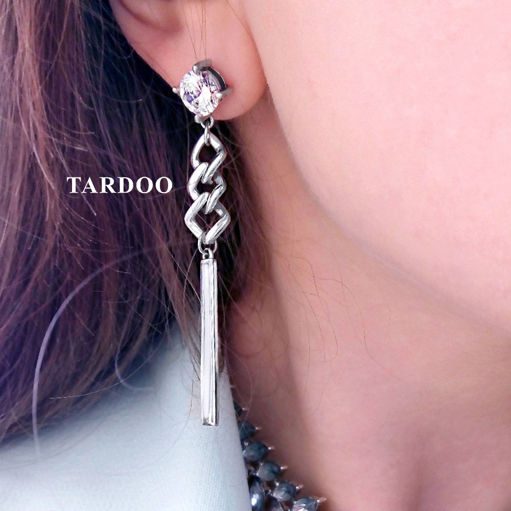 Tardoo Zircon 925 Sterling Silver Tassels Asymmetric Long Earrings for Women Delicate Luxury Drop Earrings Fine Jewelry various artists various artists blue break beats vol 1 2 lp coloured