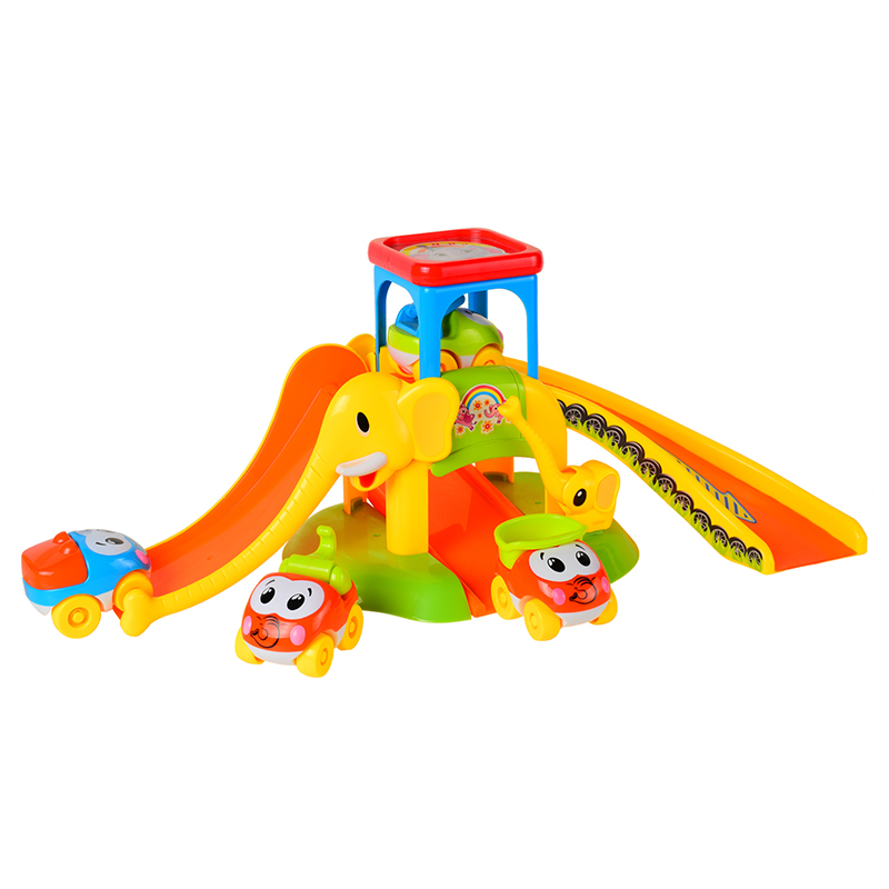 High quality Elephant Parking lot Kids Toy Educational Toy For Christmas gift Parking Lot with 4 Cars