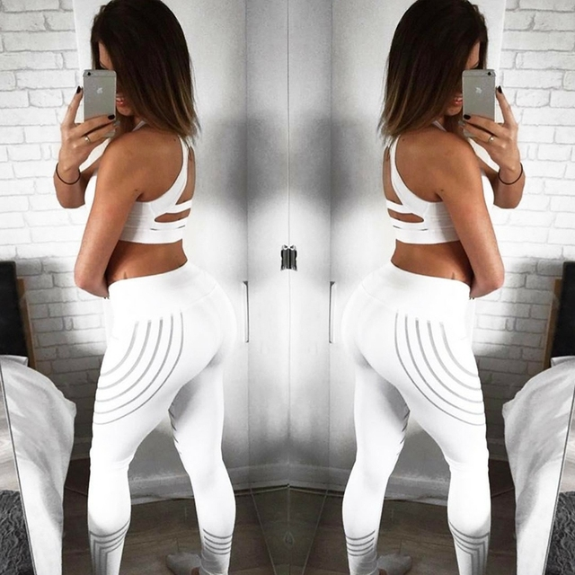 2019 Fashion Women Leggings Slim High Waist Elasticity Leggings Fitness Printing leggins  Breathable Woman Pants Leggings 3