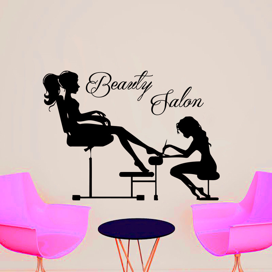 Beauty Salon Wall Sticker Manicure Beautician Manicuring ...