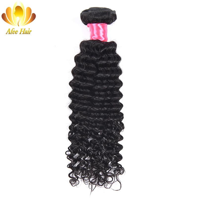 AliAfee Brazilian Deep Wave 1 Bundles Deal Hair Weave Brazilian Hair Deep Wave 100% Human Hair Extension Non Remy Hair