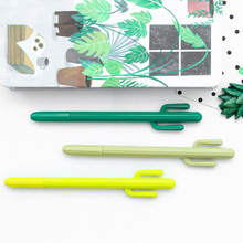 6 pcs Cactus pens Green plant decoration 0.5mm roller ball pen for writing black color Stationery office school supplies FB296