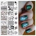 Flores Árboles Hojas Diseños Nail Art Stamping Plate Imagen Profesional Herramientas Para Chica Manicura # JQ-L18