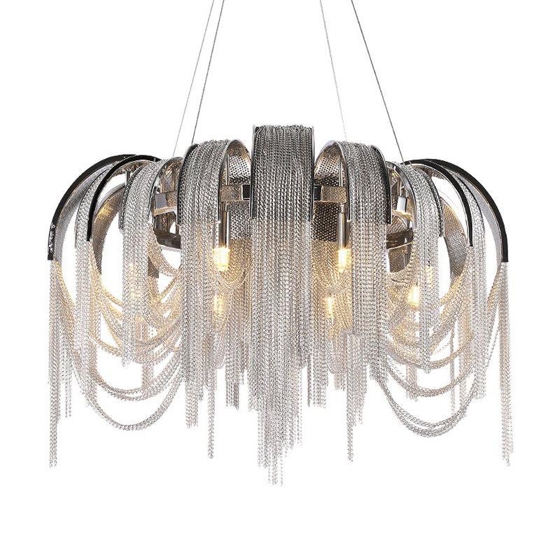 Desain baru LED aluminium chandelier cahaya mewah D650mm Emas / perak - Pencahayaan dalam ruangan - Foto 2