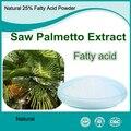 250 gramos Paquete Natural Polvo de Extracto de Palma Enana Americana, Saw Palmetto Berry Extracto de 25% de Ácidos Grasos
