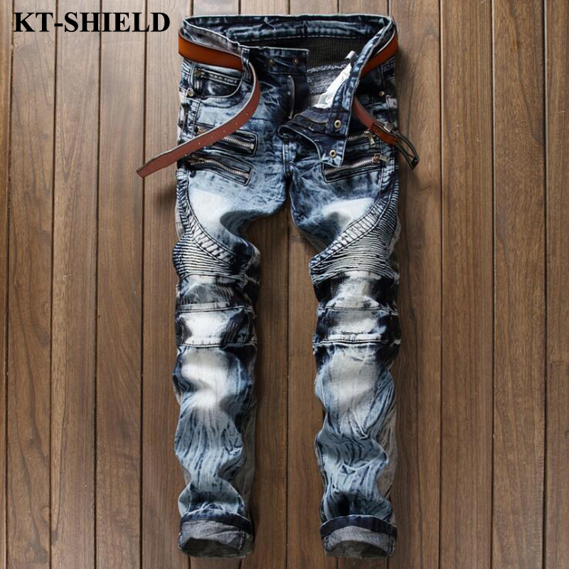 New Slim fit Jeans Men 100 Cotton Blue Black Fashion Denim Pants Masculina Casual Male Harem