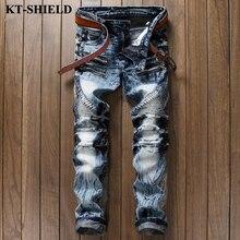 Новый Slim fit Джинсы Мужчины 100% Хлопок Синий Черный Мода джинсовые Брюки Masculina Случайный Мужчина Шаровары Роскошные Мужские Бренд джинсы
