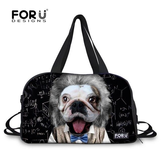 Fashion Brand Design Men's Travel Bags Waterproof Male Luggage Shoulder Bag Animal Duffle Bag Travel Duffle Bags FORUDESIGNS