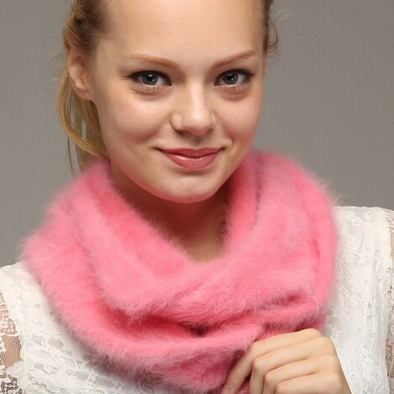 2019 New Hot Selling Women Fashion Warm Real Mink Cashmere Ring Genuine Mink Cashmere Scarf Natural Fur Pashmina TBFP862