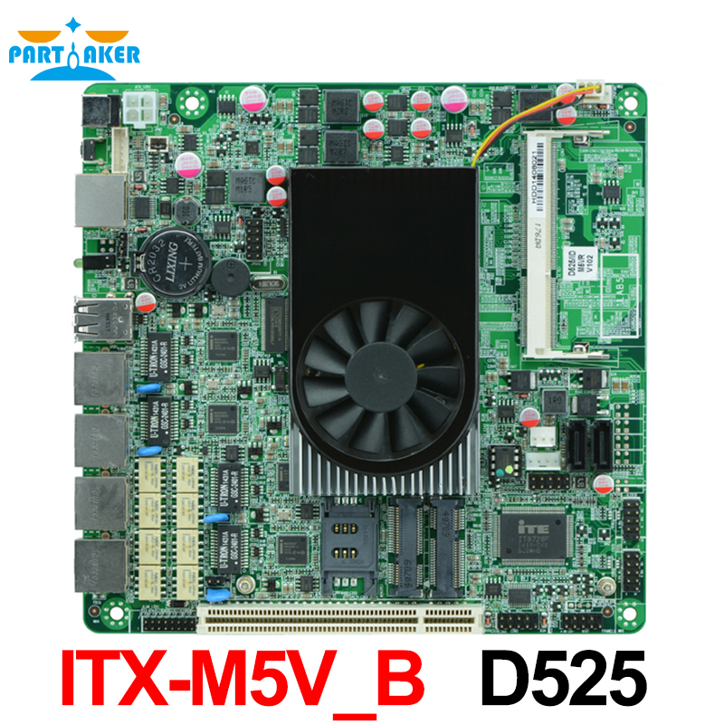 цена Intel Atom D525 4*Intel 82583V Gigabit Ethernet Dual Core Firewall Motherboard Network Security Mainboard