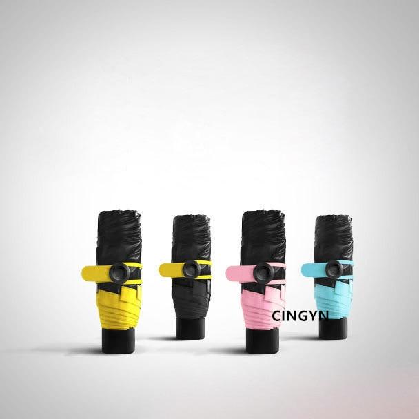 Mini Five Taschenschirm Fashion Black Sunshade Parasol Taschenschirm - Haushaltswaren - Foto 4
